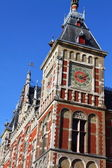 Holland, Amsterdam, view of the Central Railway Station facade — Stock Photo