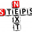 3D Next Steps Crossword — Stock Photo #7920702