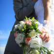 Attractive and young couple on their wedding day — Stock Photo