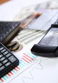 Pen and calculator — Stock Photo