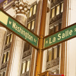 Intersection of Washington and La Salle — Stock Photo