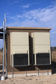 Equipment shelter on the cellular site — Stock Photo