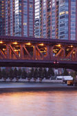 Bridge on Lake Shore Drive — Stock Photo