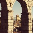 View between Aqueduct arches — Stock Photo