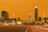 Cleveland after sunset — Stock Photo