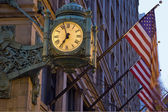 Old Clock and Flags — Stock Photo