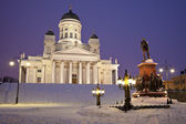 Lutheran Cathedral - winter morning — Stock Photo