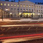 大統領宮殿でトラフィック — ストック写真