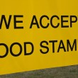 Stock Photo: We accept food stamps