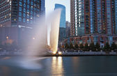 Fountain by Chicago River — Stock Photo