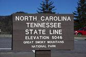 Tennessee - North Carolina state line — ストック写真