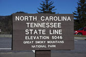 Tennessee - North Carolina state line — Foto de Stock