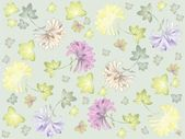Seamless background. Illustration daisies. — Stok Vektör