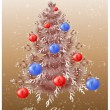 Christmas background with christmas tree. — Stock Vector
