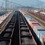 Russian railway — Stock Photo