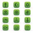 Stock Vector: Religion Signs