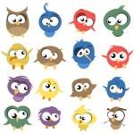 Ugly Birds — Stock Vector