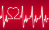 Heart on a Cardiogram — Vector de stock