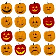 Halloween pumpkins — Stock Vector