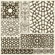 Stock Vector: Arabesque designs