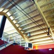 Stock Photo: Roof trusses interior