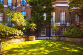 Beautiful english villa yard — Stock Photo