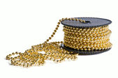 Pack of golden decoration chain — Stock Photo