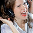 Stock Photo: Music woman