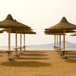 Stock Photo: Beach umbrellas