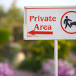 Stock Photo: Private Area