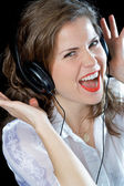 Music woman — Stock Photo