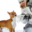 Woman and dog — Stock Photo #7682488