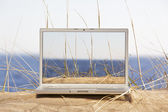 Outdoor laptop — Foto de Stock