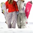 Friends snowboarders — Stock Photo