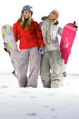 Snowboarders amigos — Foto de Stock