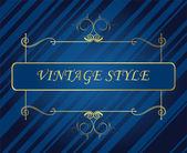 Template vintage frame — Stock Vector