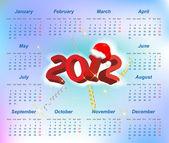 Vector Santa calendar 2012 year (week starts on Monday) — Stock Vector