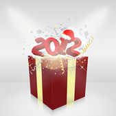 Gift box 2012 year vector illustration — Stock Vector