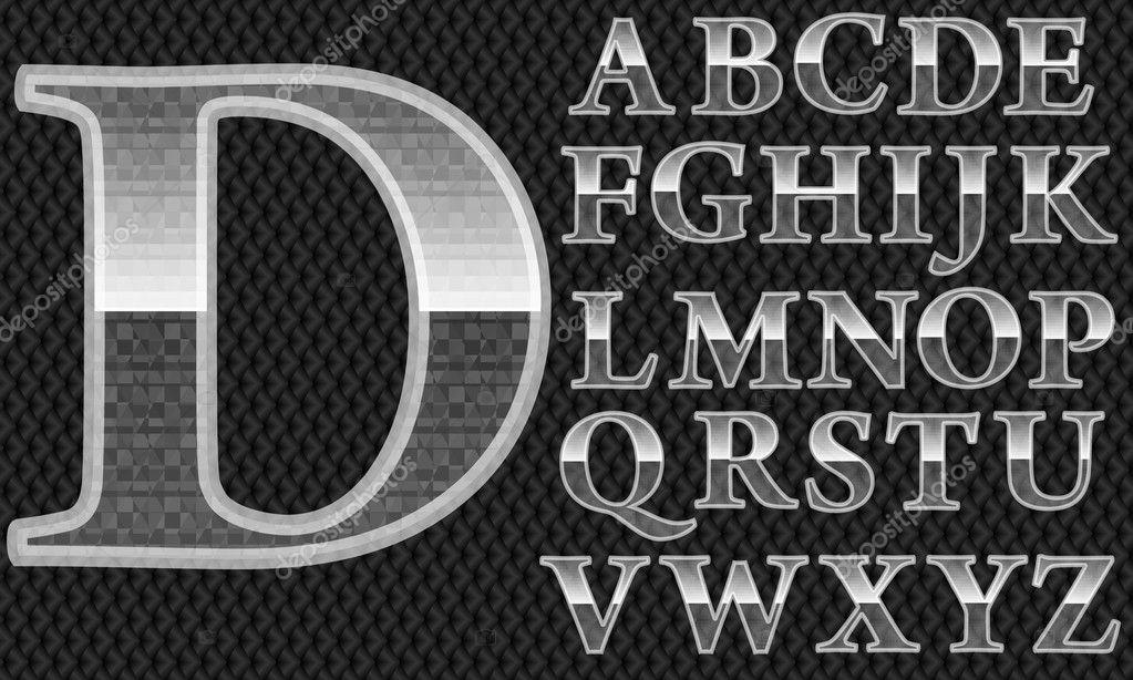 Glas Alphabet Letters Van Een Tot En Met Z Vector