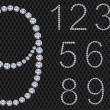 Royalty-Free Stock Vector Image: Diamond number set, from 1 to 9, vector illustration