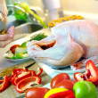 Preparing turkey' stuffing — Stock Photo #7368260