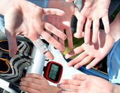 Callosities on hands — Stock Photo