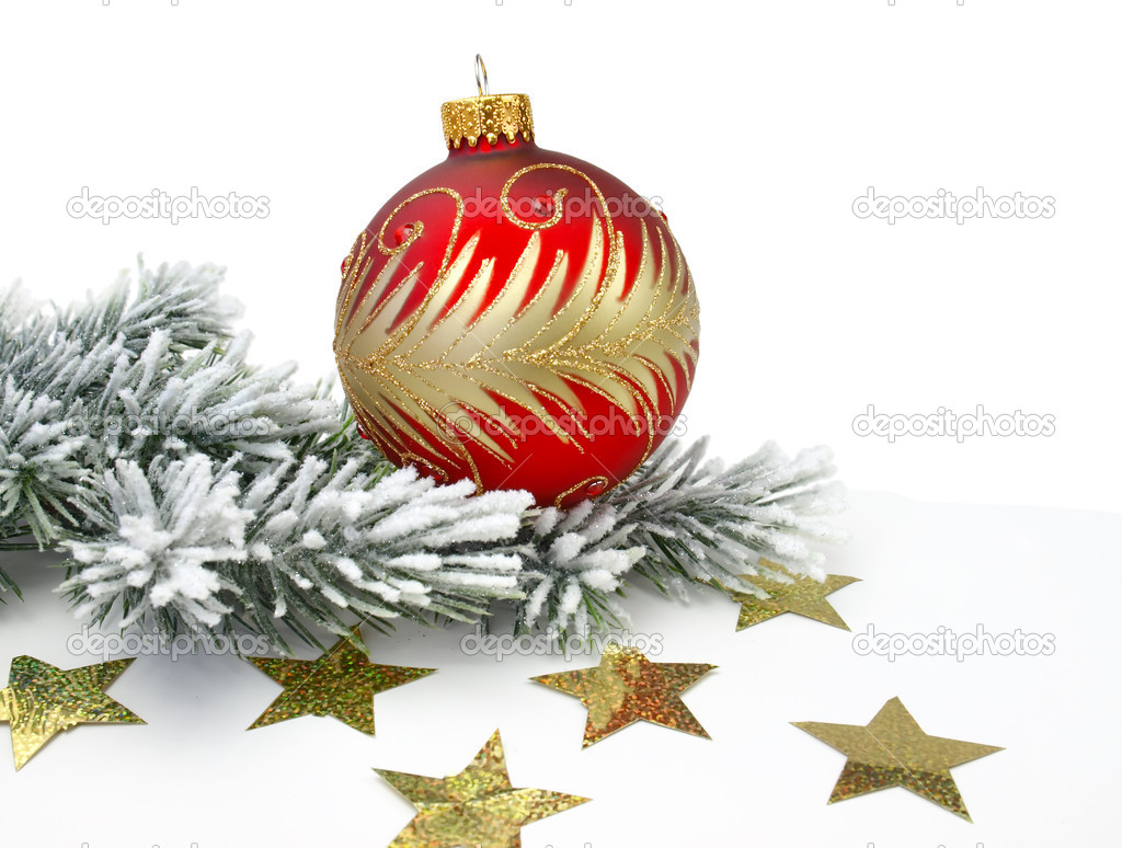 Christmas decoration on the white background    — Stock Photo #7811078