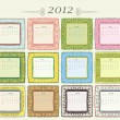 Calendar of 2012 — Stock Vector