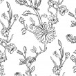 Royalty-Free Stock Vector Image: Hand drawn floral wallpaper