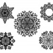Royalty-Free Stock Imagen vectorial: Set of vector ornaments.