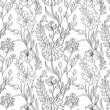 Royalty-Free Stock Vector Image: Floral seamless wallpaper