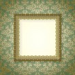 Luxury frame on vintage wallpaper - Imagen vectorial