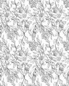 Papel de parede floral mão desenhada — Vetorial Stock