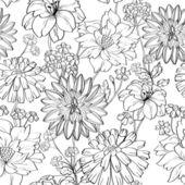 Floral fond d'écran sans soudure — Vecteur